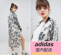 adidas Flower Patterns Casual Style Collaboration Long Jackets