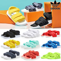 cab0d5d66fae5e adidas ADILETTE Open Toe Casual Style Unisex Blended Fabrics Street Style
