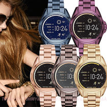 Michael Kors Casual Style Unisex Metal Round Digital Watches