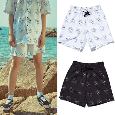 Printed Pants Short Casual Style Unisex Street Style Shorts