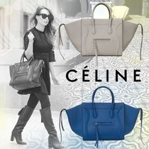 CELINE Luggage Phantom Calfskin A4 Plain Elegant Style Handbags