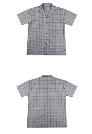 Shirts Glen Patterns Street Style Cotton Short Sleeves Shirts 12