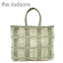 The Jacksons Gingham A4 Straw Bags