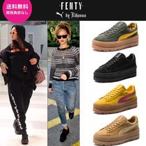 PUMA FENTY Platform Lace-up Casual Style Suede Street Style
