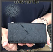 Louis Vuitton TAIGA Calfskin Plain Coin Cases