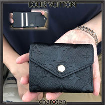 Louis Vuitton MONOGRAM EMPREINTE Monogram Unisex Calfskin Plain Folding Wallets
