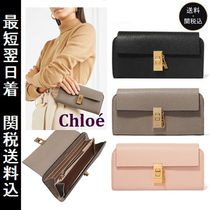 Chloe Drew Lambskin Plain Long Wallets