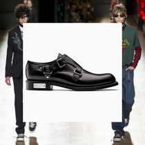 DIOR HOMME Monk Leather Loafers & Slip-ons