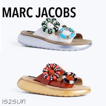 MARC JACOBS Open Toe Platform Casual Style Leather