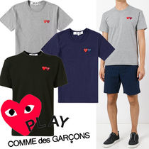 COMME des GARCONS Crew Neck Pullovers Heart Blended Fabrics Street Style Plain