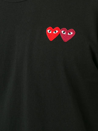 COMME des GARCONS Crew Neck Crew Neck Pullovers Heart Blended Fabrics Street Style Plain 6
