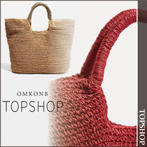 TOPSHOP Casual Style Plain Straw Bags