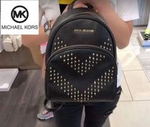 Michael Kors Casual Style Street Style Plain Leather Backpacks