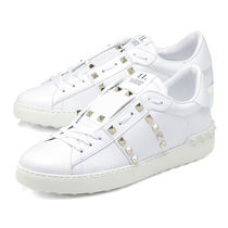 VALENTINO Plain Leather Sneakers