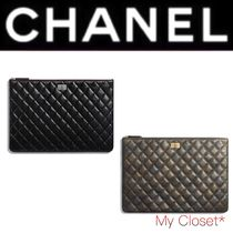 CHANEL TIMELESS CLASSICS Other Check Patterns Calfskin A4 Plain Elegant Style