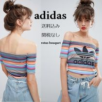adidas Stripes Casual Style Street Style Bandeau & Off the Shoulder