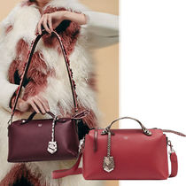FENDI BY THE WAY 3WAY Plain Leather Python Elegant Style Shoulder Bags