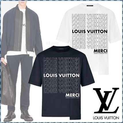 Louis Vuitton Crew Neck Crew Neck Pullovers Monogram Street Style Bi-color Cotton