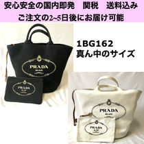 PRADA CANAPA Casual Style Canvas 2WAY Plain Totes
