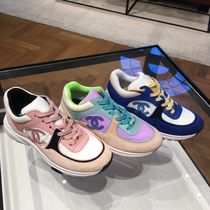 CHANEL SPORTS Suede Bi-color Low-Top Sneakers
