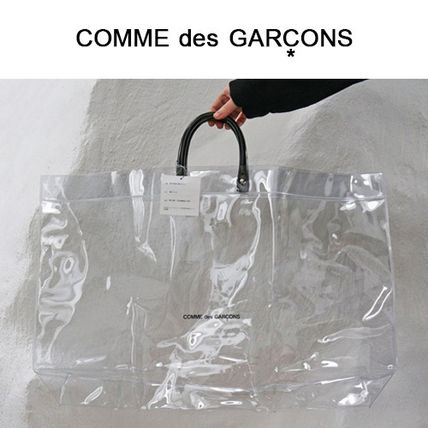 Casual Style Unisex A4 Crystal Clear Bags PVC Clothing Totes