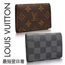 Louis Vuitton Other Check Patterns Monogram Leather Card Holders