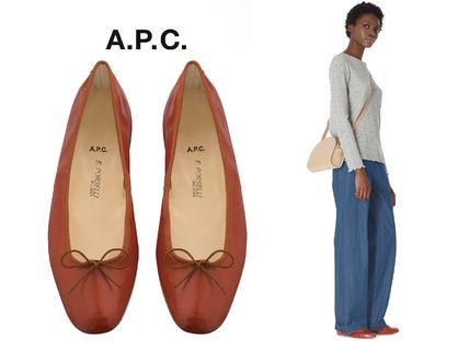 Round Toe Casual Style Blended Fabrics Collaboration Plain