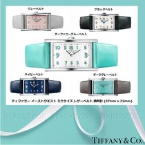 Tiffany & Co Leather Square Quartz Watches Elegant Style Analog Watches