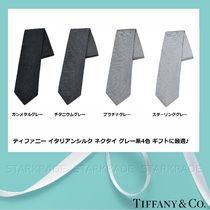 Tiffany & Co Silk Collaboration Plain Ties