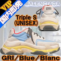 BALENCIAGA Triple S Casual Style Unisex Oversized Low-Top Sneakers