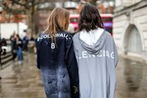 BALENCIAGA Casual Style Street Style Plain Medium Coats