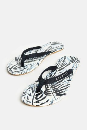 Tropical Patterns Rubber Sole Casual Style Street Style