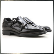 PRADA Wing Tip Monk Leather Loafers & Slip-ons