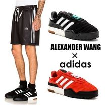 Alexander Wang Stripes Unisex Suede Street Style Collaboration Sneakers