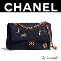 CHANEL MATELASSE Other Check Patterns Street Style 2WAY Chain Elegant Style