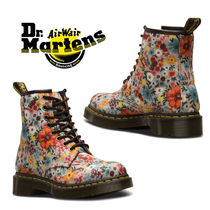 Dr Martens Flower Patterns Street Style Engineer Boots