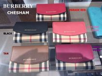 Burberry Other Check Patterns Blended Fabrics Leather Handmade