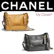 CHANEL ICON Crocodile Street Style 3WAY Chain Plain Python Elegant Style