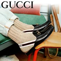 GUCCI Loafers Tassel Leather Loafers & Slip-ons