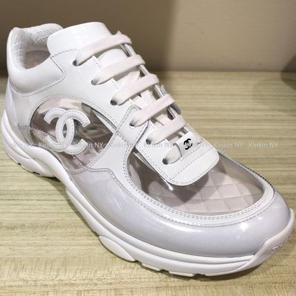 c4dfe1738f63 ... CHANEL Low-Top 18SS CHANEL SNEAKERS TRANSPARENT PVC CLEAR WITH CC LOGO  ...