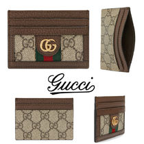 GUCCI Ophidia Stripes Canvas Card Holders