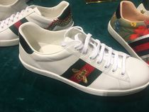 GUCCI Ace Plain Leather Sneakers