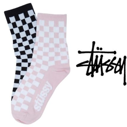 Other Check Patterns Unisex Cotton Socks & Tights
