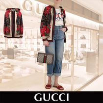 GUCCI Flower Patterns Star Casual Style Medium Oversized