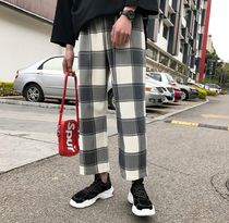 Printed Pants Tartan Patterned Pants
