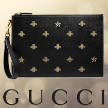 GUCCI Star Unisex Street Style 2WAY Other Animal Patterns Leather