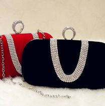Studded 2WAY Chain Plain Party Style Clutches