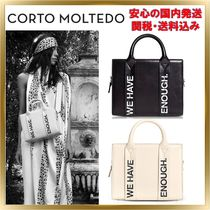 CORTO MOLTEDO Unisex 2WAY Plain Leather Elegant Style Shoulder Bags