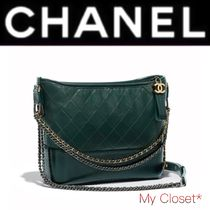 CHANEL ICON Other Check Patterns Calfskin Street Style 3WAY Chain Plain