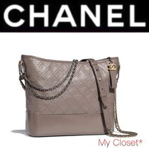 CHANEL ICON Other Check Patterns Casual Style Calfskin Street Style 2WAY
